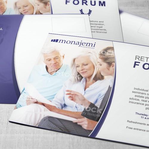 """Attracting invitation for """"Monajemi Financial Services"""""""