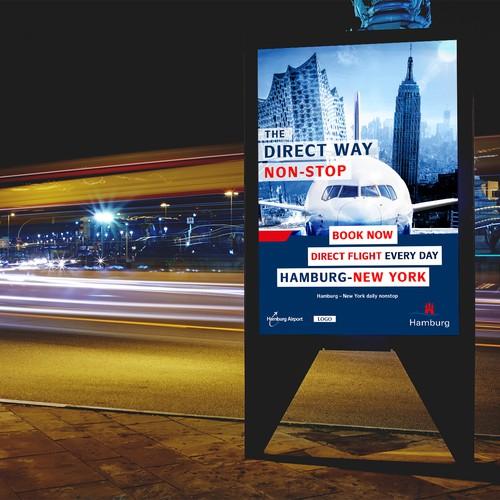 Hamburg Airport poster