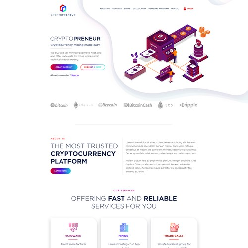 Website for Cryptopreneur