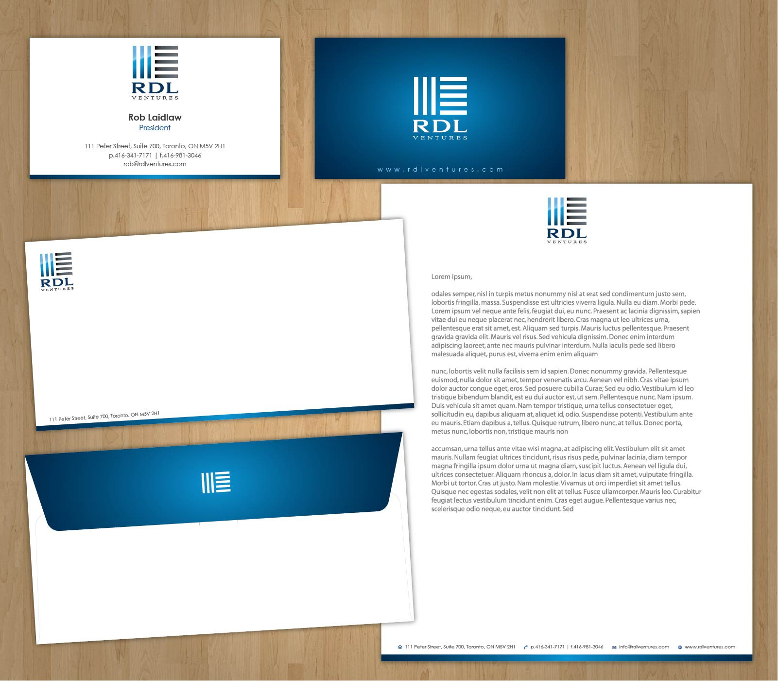 New stationery wanted for RDL Ventures