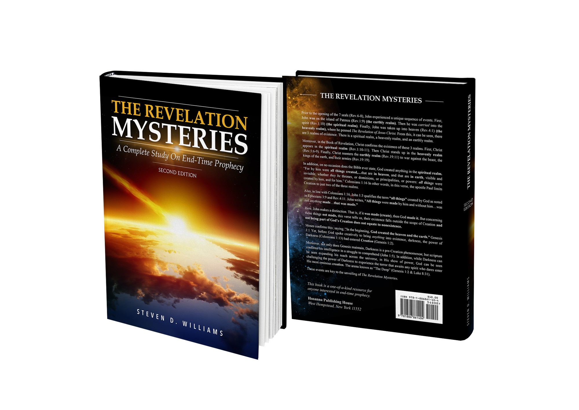 Create a innovation book cover for the apolcyptic book of the Bible - The Book of Revelation