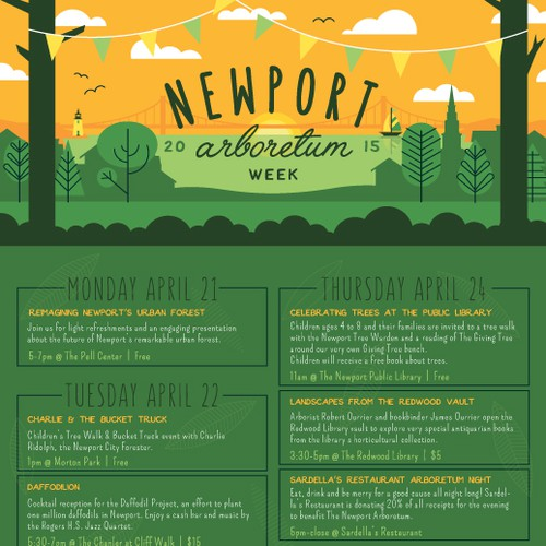 Newport Arboretum poster