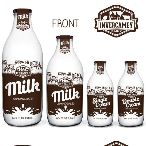 Milk bottle branding