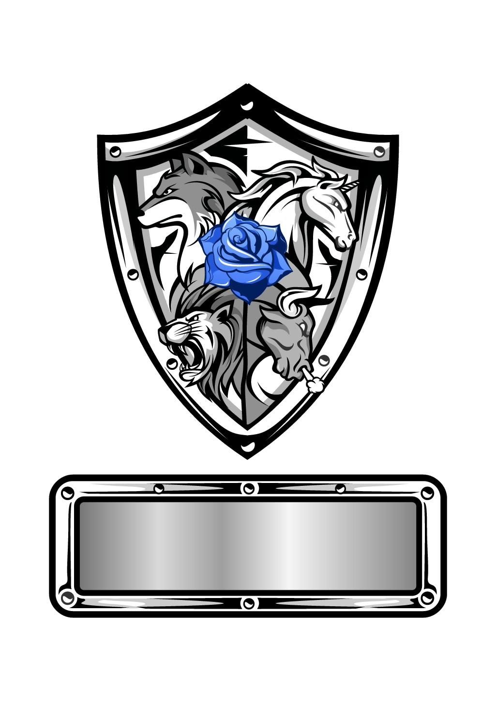 Ein Logo Style-Mix aus Professionell, Tattoo und Wappenschild