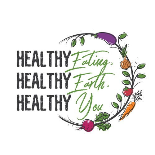 Healthy earthy veggie friendly logo