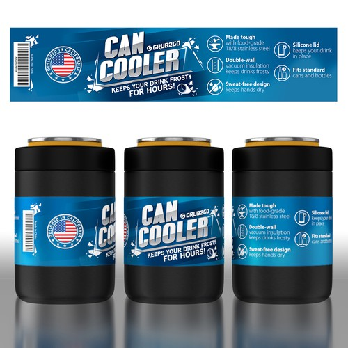 Design a Label for a Stainless Steel Can Cooler