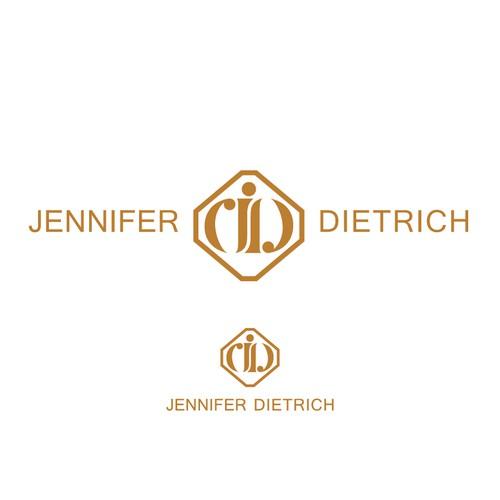 initial logo for jennifer dietrich