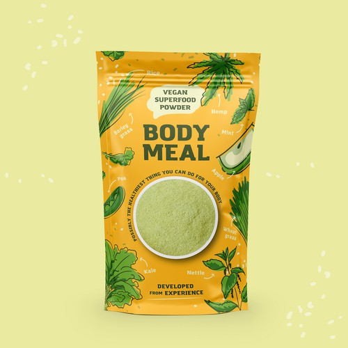 Packaging design for a meal replacement product