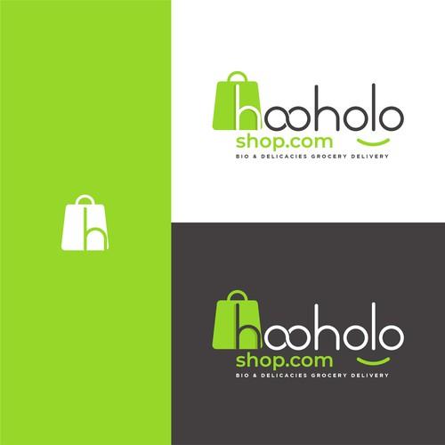 hooholo shop logo design