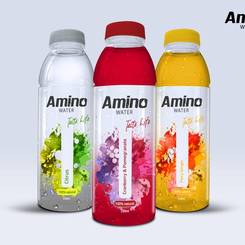 Amino Water Packaging and Logo Design