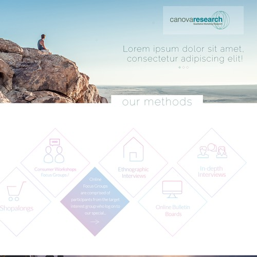Canova Research Landing Page Concept