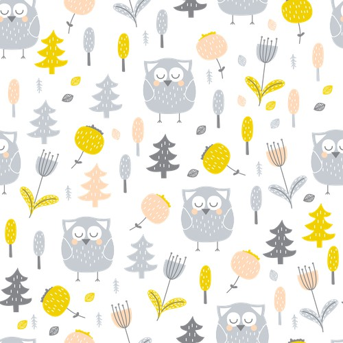 pattern design for kids soft furnishings