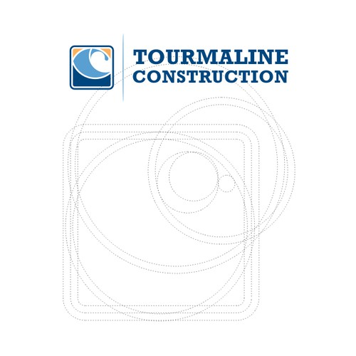 Designing a wave logo for Tourmaline Construction