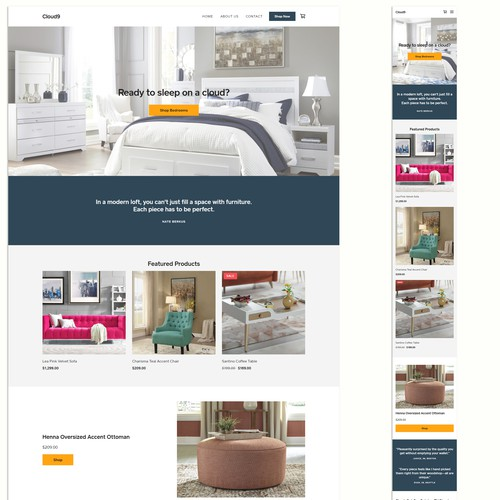 Ecommerce website for an furniture store