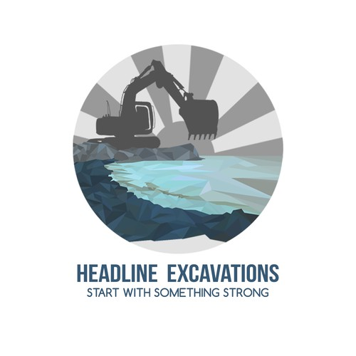Create a dependable yet modern logo for Headland Excavations