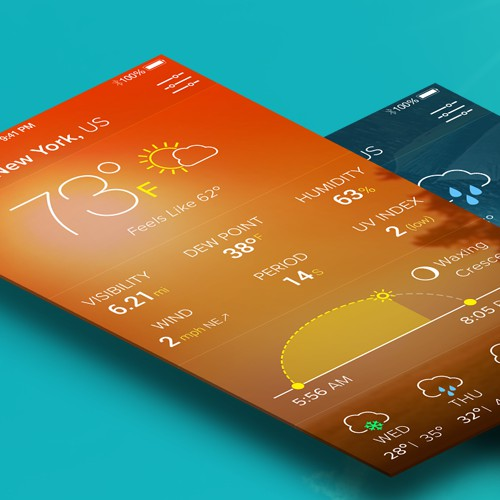 Design for weather application