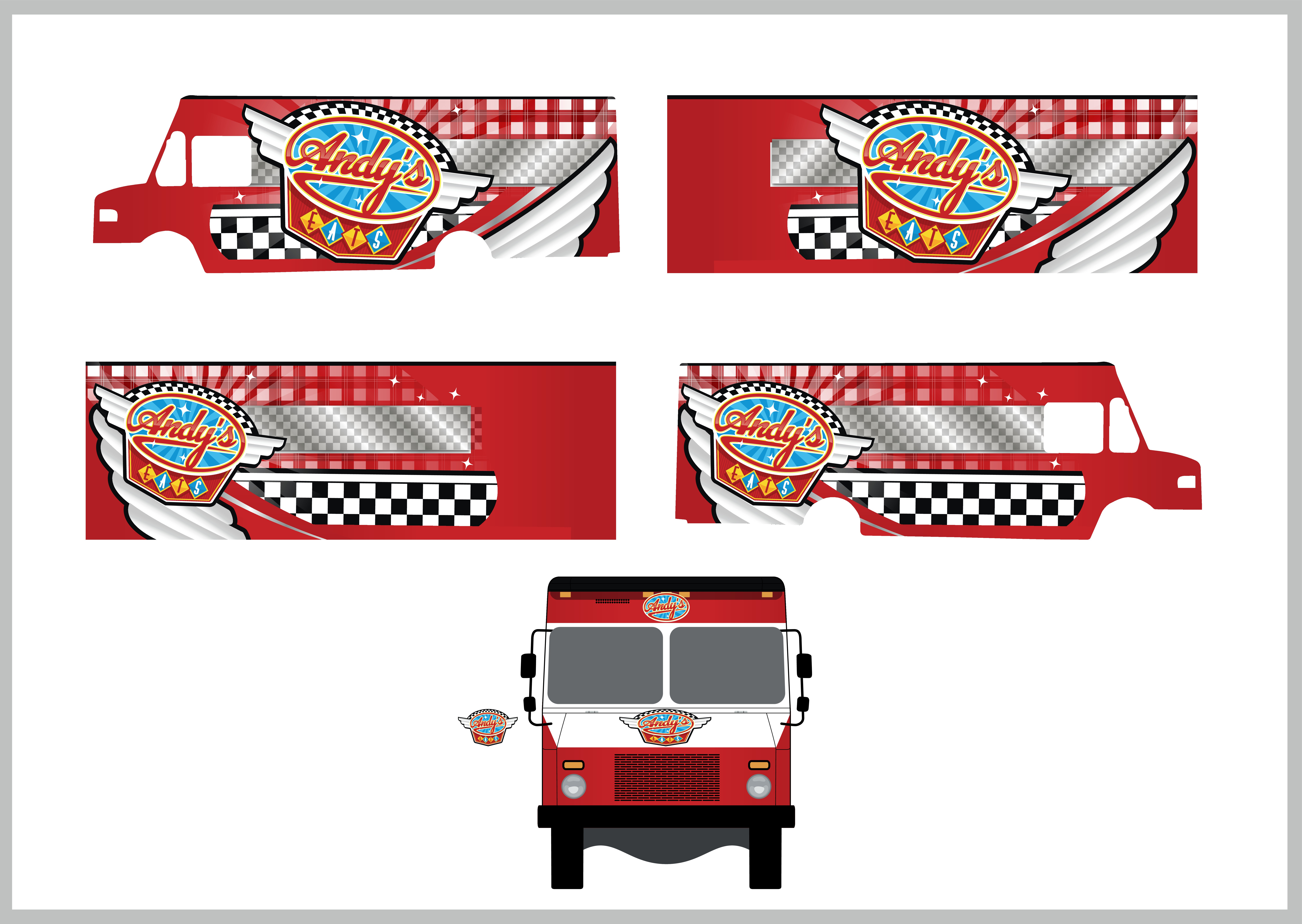 Food Truck Wrap, Diner Theme