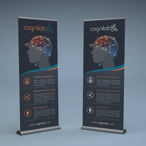 Minimalist banner for cognitive research company