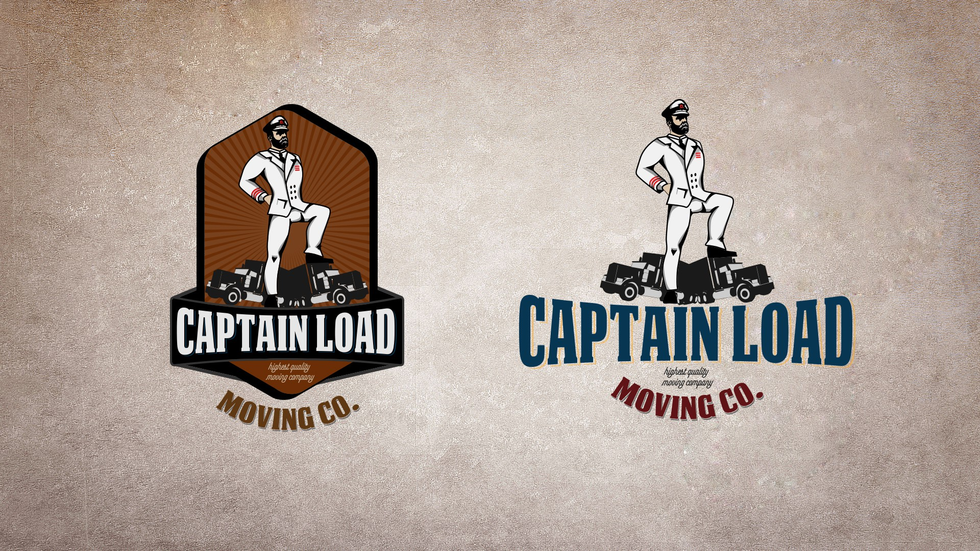 Create logo for moving company with subtleties - be risky - Captain Load Moving Co.