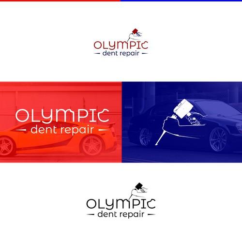 Logo design concept for Olympic dent repair