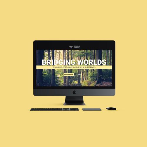 """Website design for """"Bridging Worlds"""""""