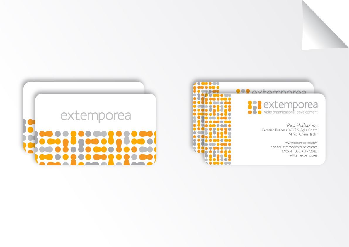 logo and business card for extemporea