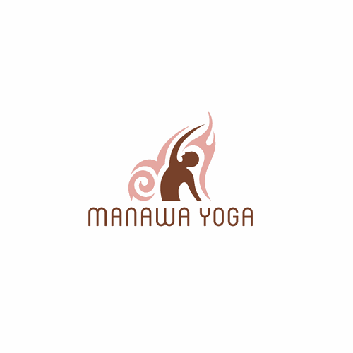 Yoga retreat logo with tribal style