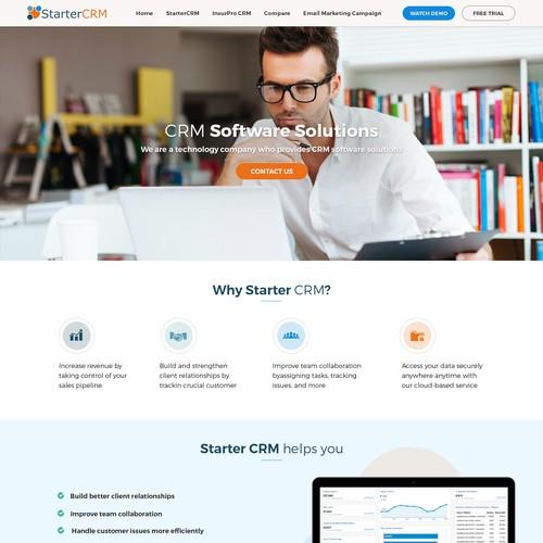 CRM Software website