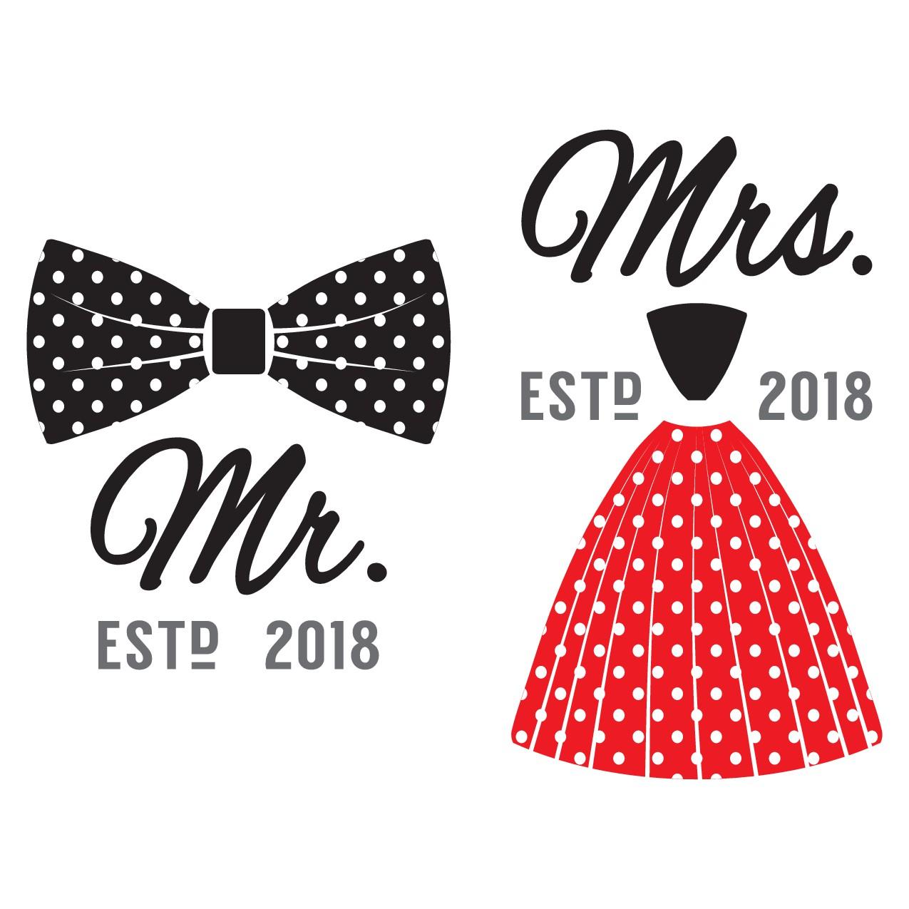 Mr Mrs Right Apron Design