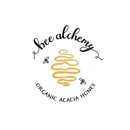 Logo design for organic honey products