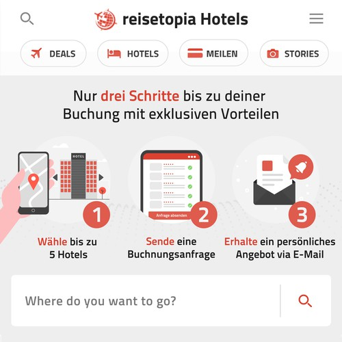 UX Clarification-banner for Hotel Booking service