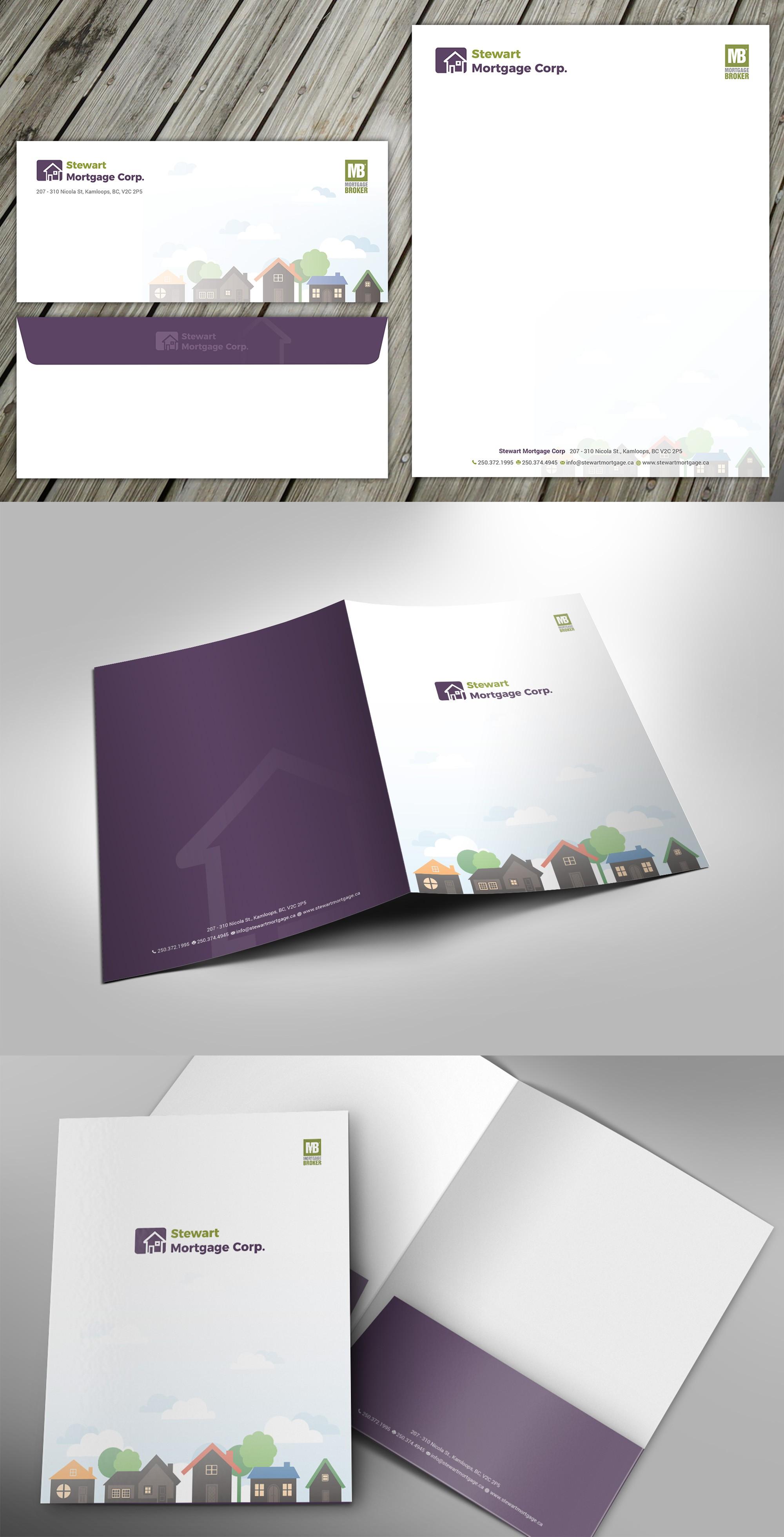 Letterhead, envelopes and presentation folders
