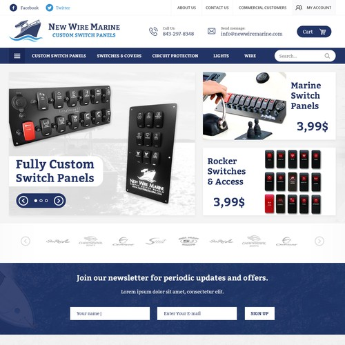 HOME PAGE FOR NEW WIRE MARINE