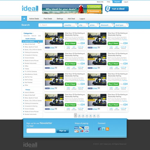 New website design wanted for Ideall PTY LTD