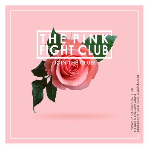 The Pink Fight Club Invitation Concept Design