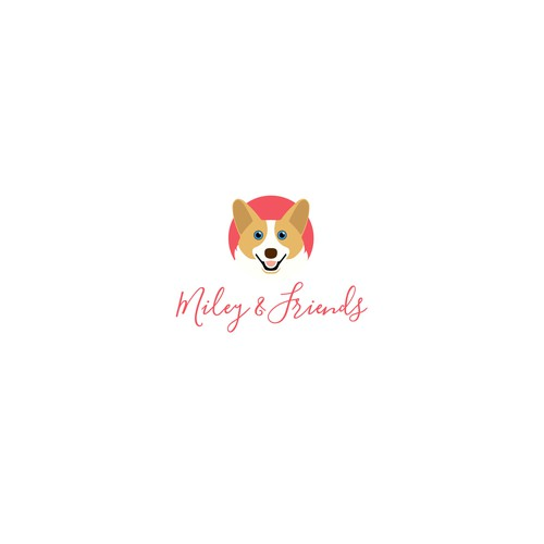 Logo for a therapy dog service.