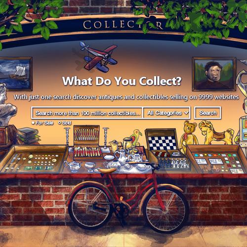 Collector.io website background