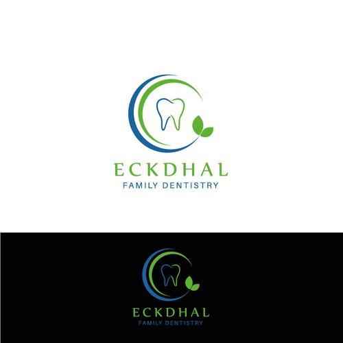 Winning design for 'Eckdhal Family Dentistry'.