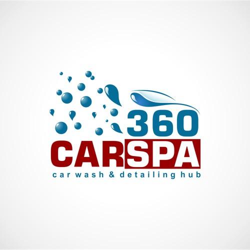 Create a pulsating, modern, vibrant logo design for a carwash company