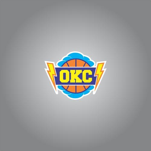 Oklahoma Themed thunder b-ball T-shirt