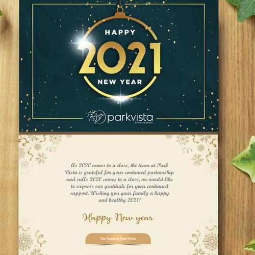 Create a New Year's Eve Invitation for a health care company