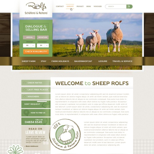 Webdesign for Sheep Rolfs