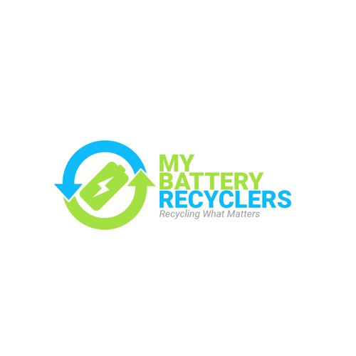 Modern logo for US based battery recycling company