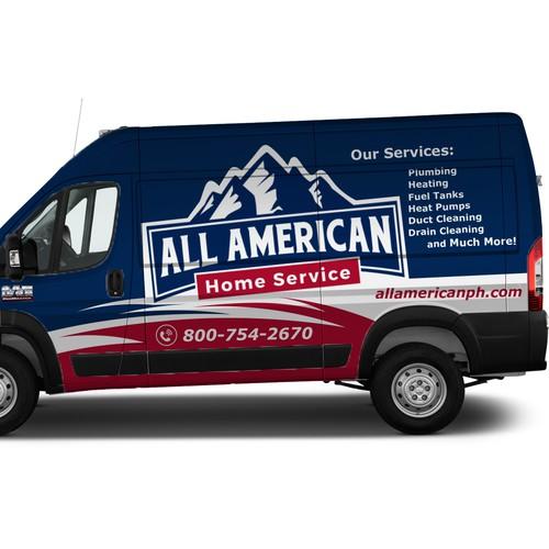 All American car wrap