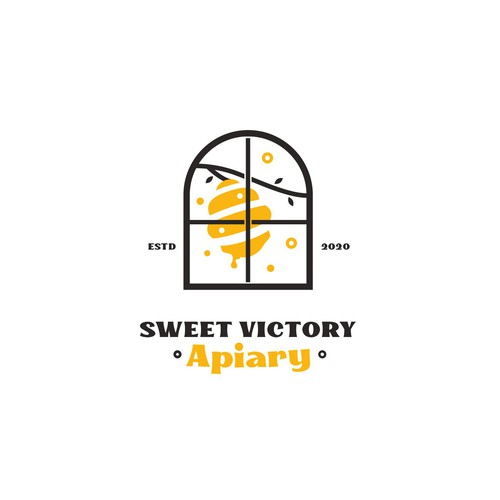 Logo for an Honeybee farm and airbnb