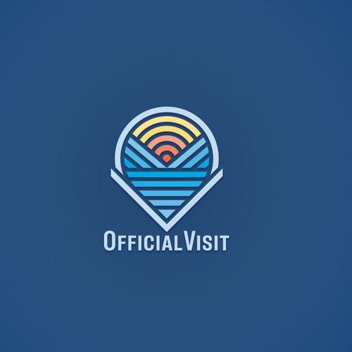logo for the college destination web app Official Visit