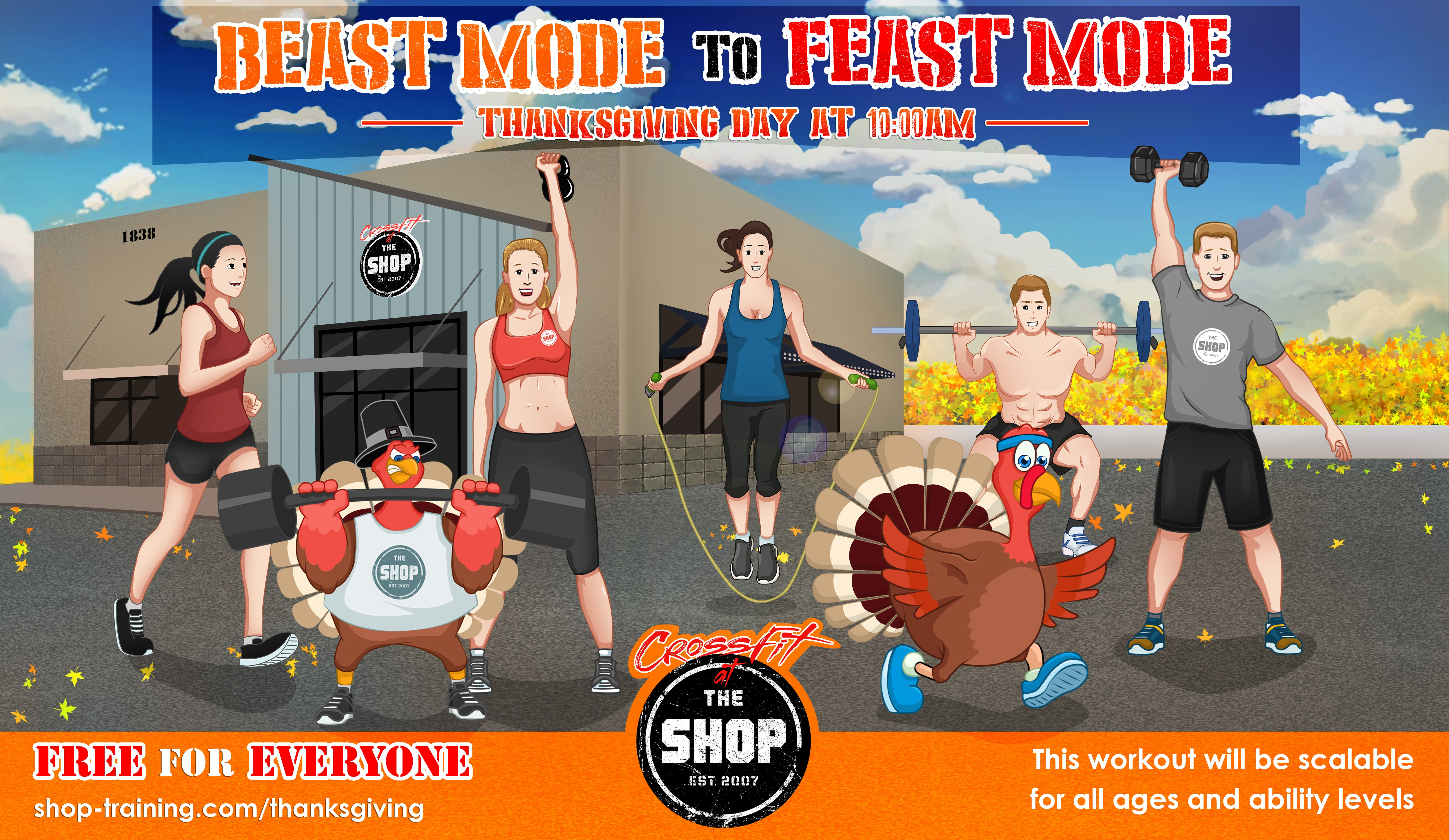 """CrossFit gym looking to beat the Turkey Trot with """"BEAST Mode to FEAST Mode"""""""