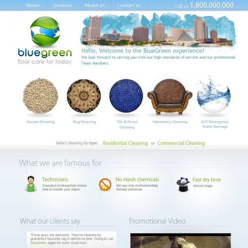Help BlueGreen with a new website design