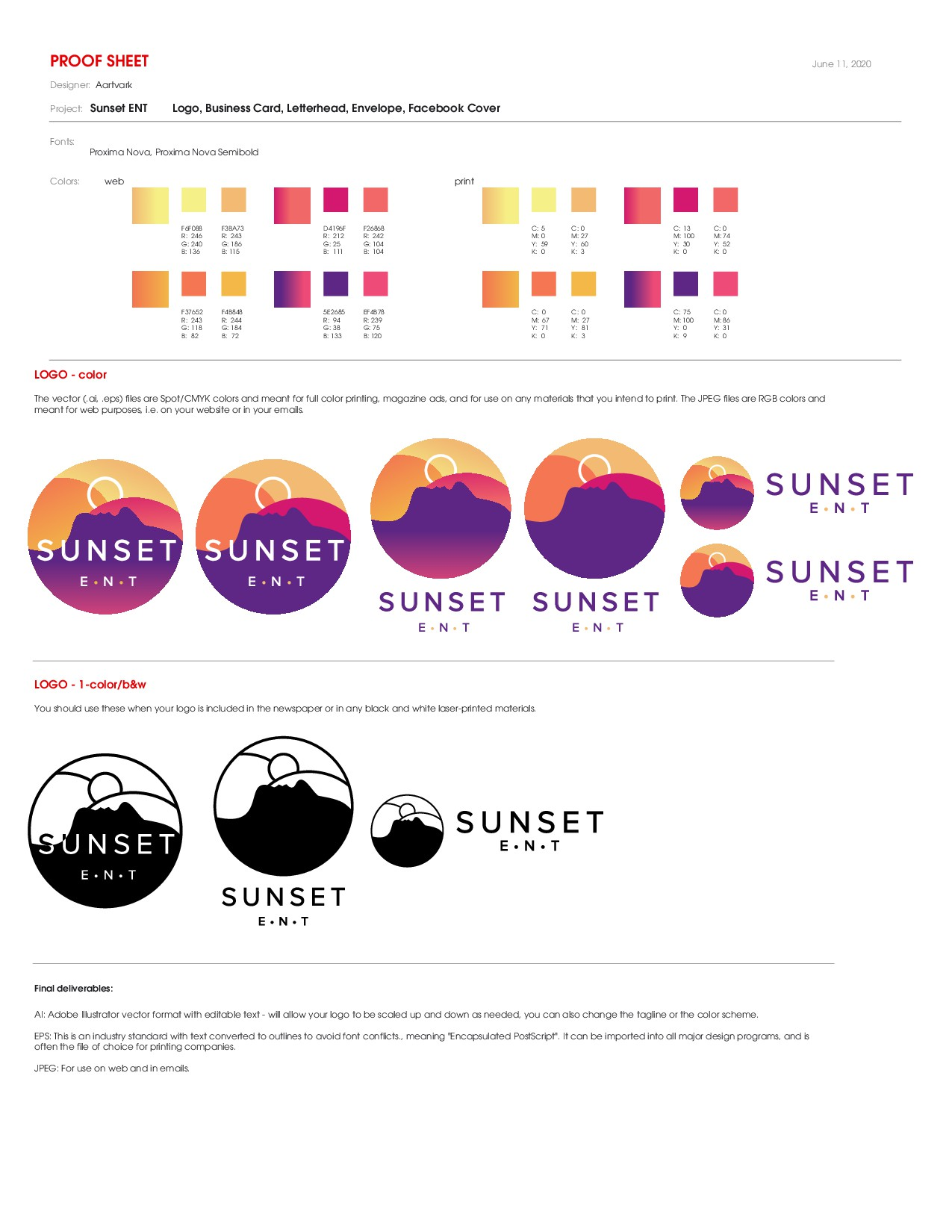 Sunset/nature-inspired design to advertise ear, nose and throat (otolaryngology) medical/surgical practice