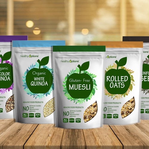 Healthy food products label